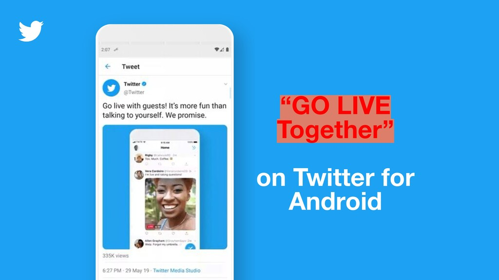 """""""GO LIVE Together"""" on Twitter for Android"""
