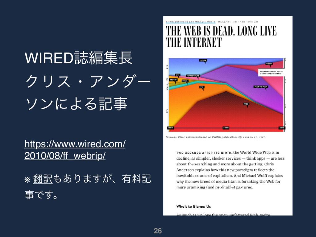 WIREDࢽฤू ΫϦεɾΞϯμʔ ιϯʹΑΔه https://www.wired.c...