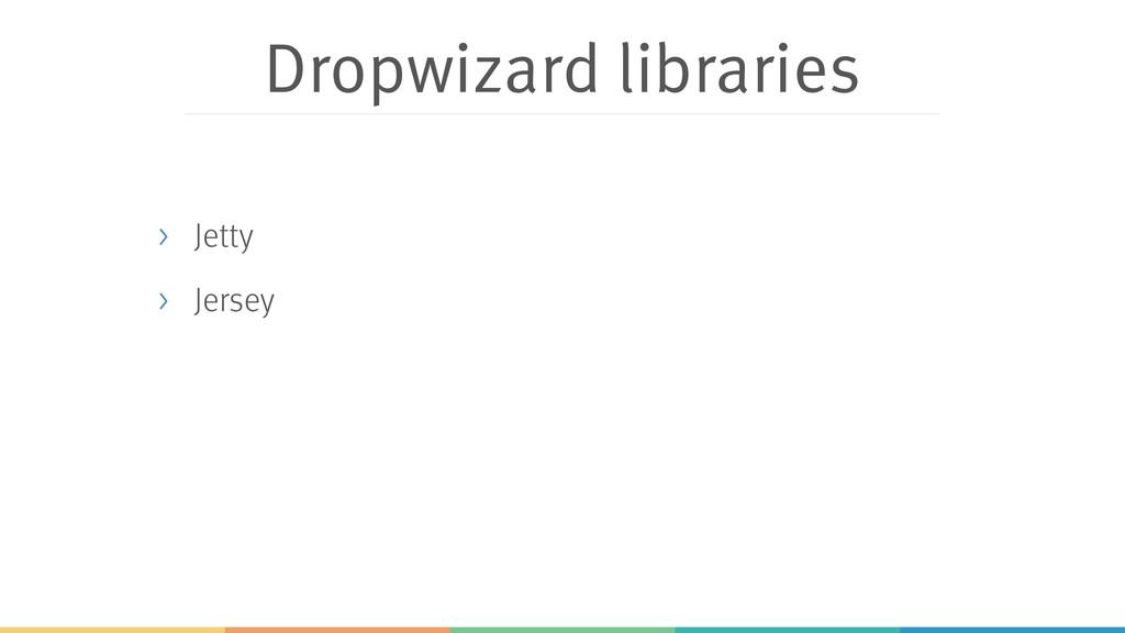 Dropwizard libraries > Jetty > Jersey