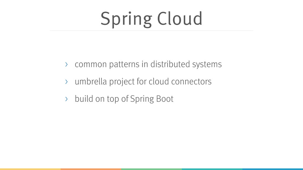 Spring Cloud > common patterns in distributed s...