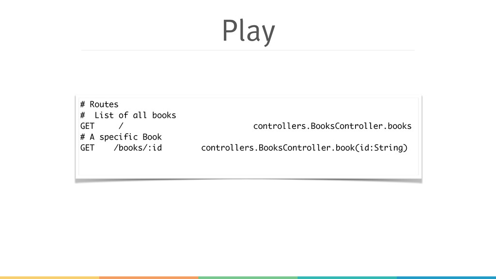 Play # Routes # List of all books GET / control...