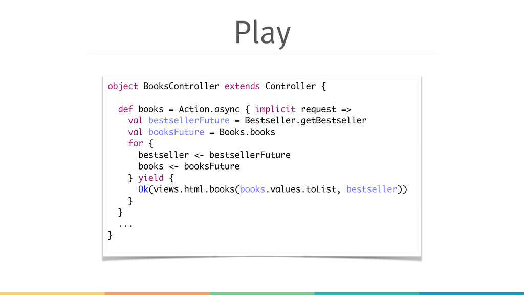 Play object BooksController extends Controller ...