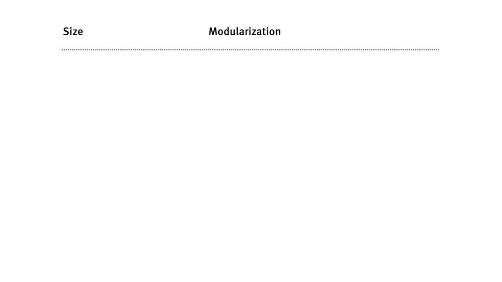 Size Modularization