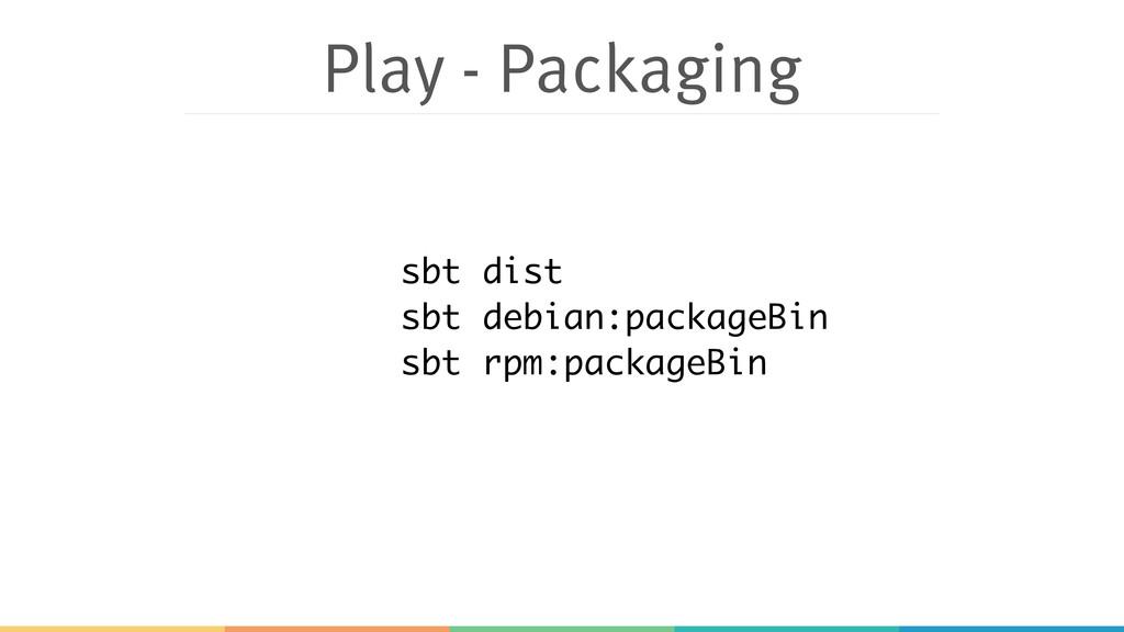 Play - Packaging sbt dist sbt debian:packageBin...