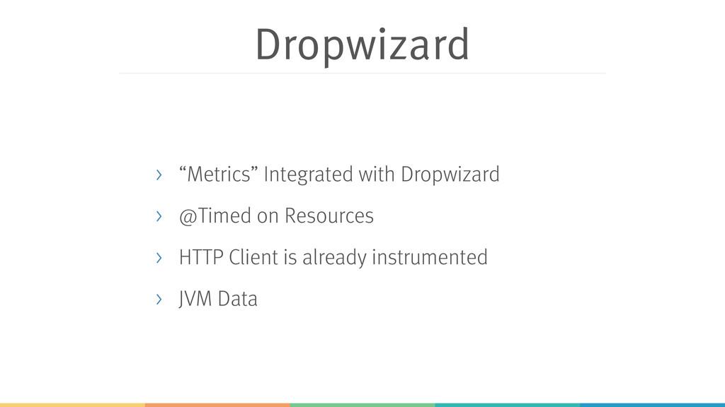 "Dropwizard > ""Metrics"" Integrated with Dropwiza..."