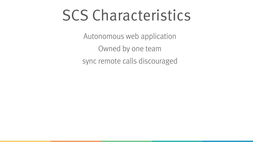 SCS Characteristics Autonomous web application ...