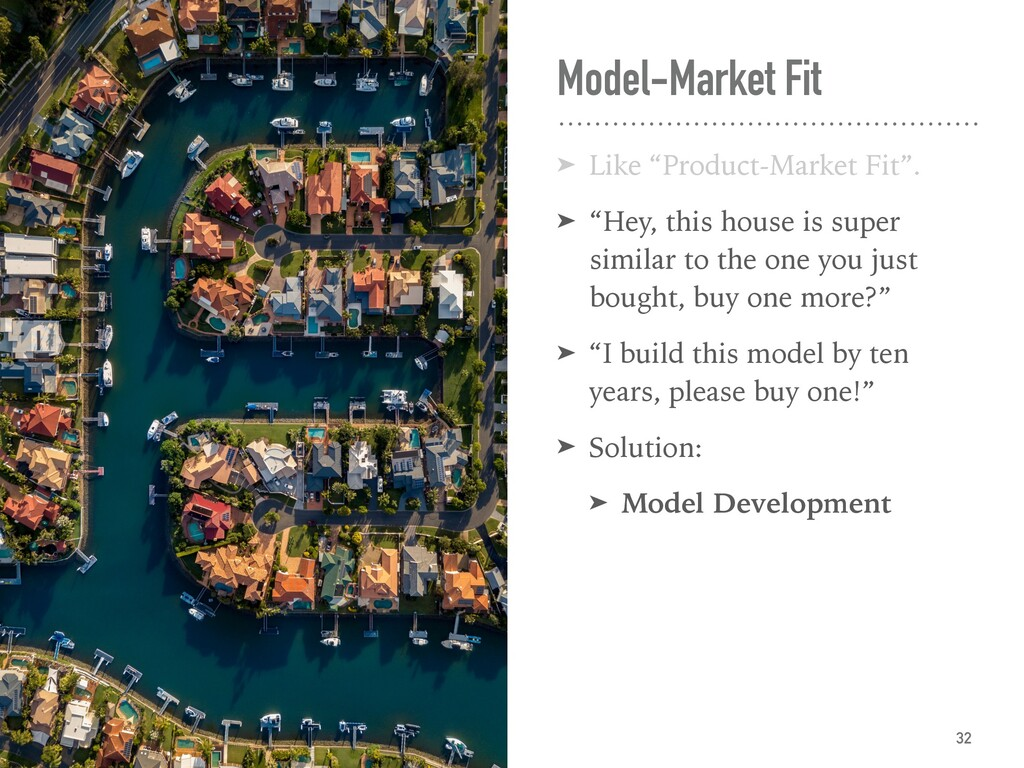 "Model-Market Fit ➤ ""Product-Market Fit"". ← ""Hey..."