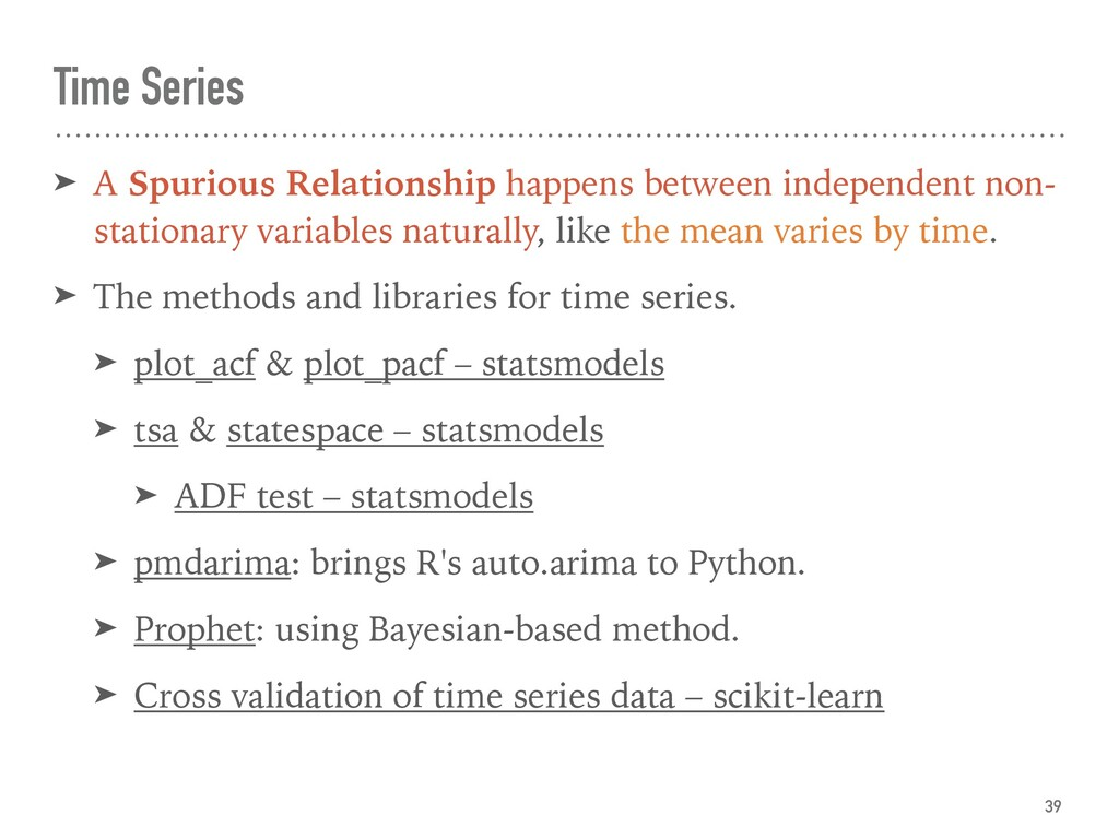 Temporal Data ➤ A Spurious Relationship happens...