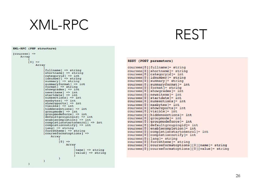 26 REST XML-RPC
