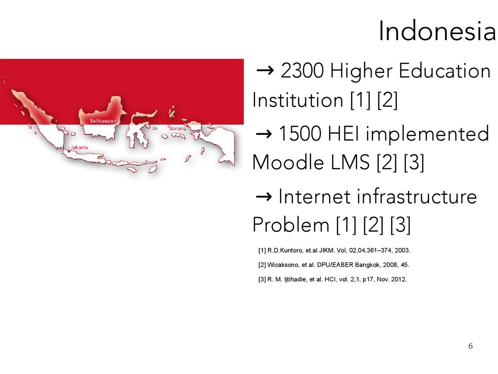 6 Indonesia → 2300 Higher Education Institution...