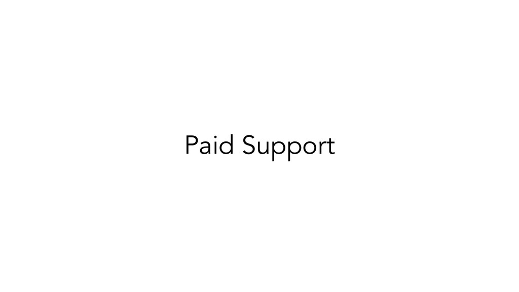 Paid Support