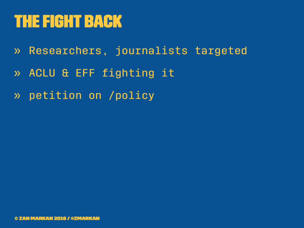 The fight back » Researchers, journalists target...