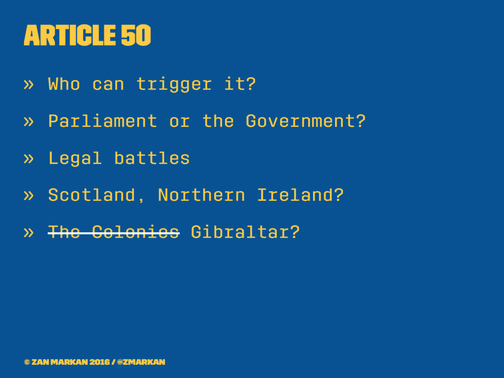 Article 50 » Who can trigger it? » Parliament o...
