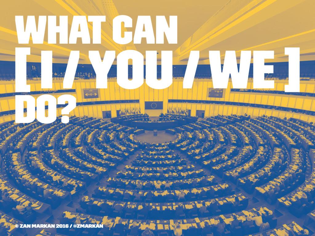 What can [ I / You / We ] Do? © Zan Markan 2016...