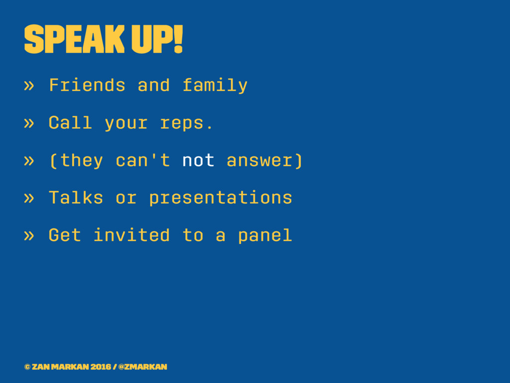 Speak up! » Friends and family » Call your reps...