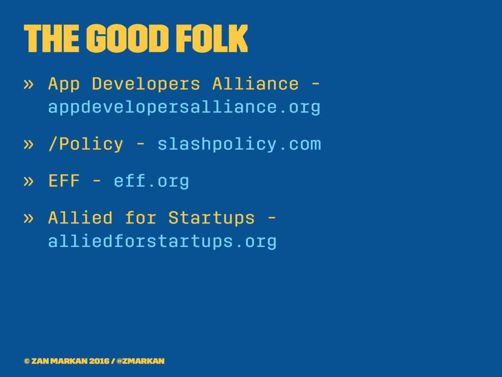 The good folk » App Developers Alliance - appde...
