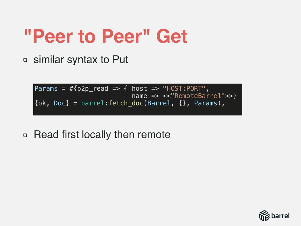 similar syntax to Put Read first locally then re...