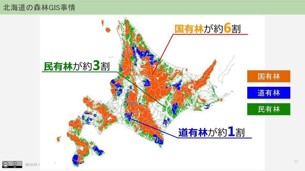 2018.07.19 地理空間フォーラム in 札幌 11 北海道の森林GIS事情 国有林 道...