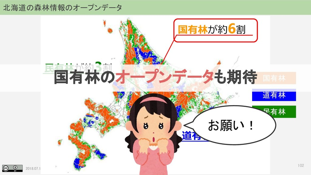 2018.07.19 地理空間フォーラム in 札幌 102 北海道の森林情報のオープンデータ...