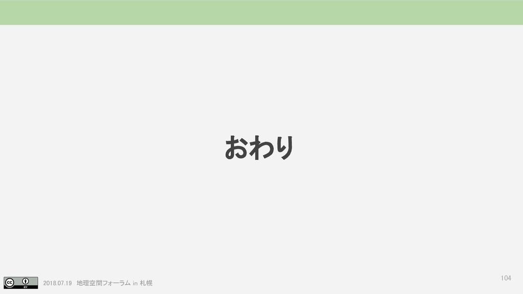 2018.07.19 地理空間フォーラム in 札幌 おわり 104