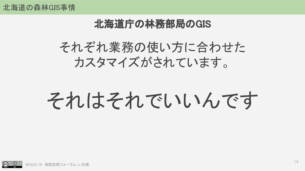 2018.07.19 地理空間フォーラム in 札幌 14 それぞれ業務の使い方に合わせた カ...