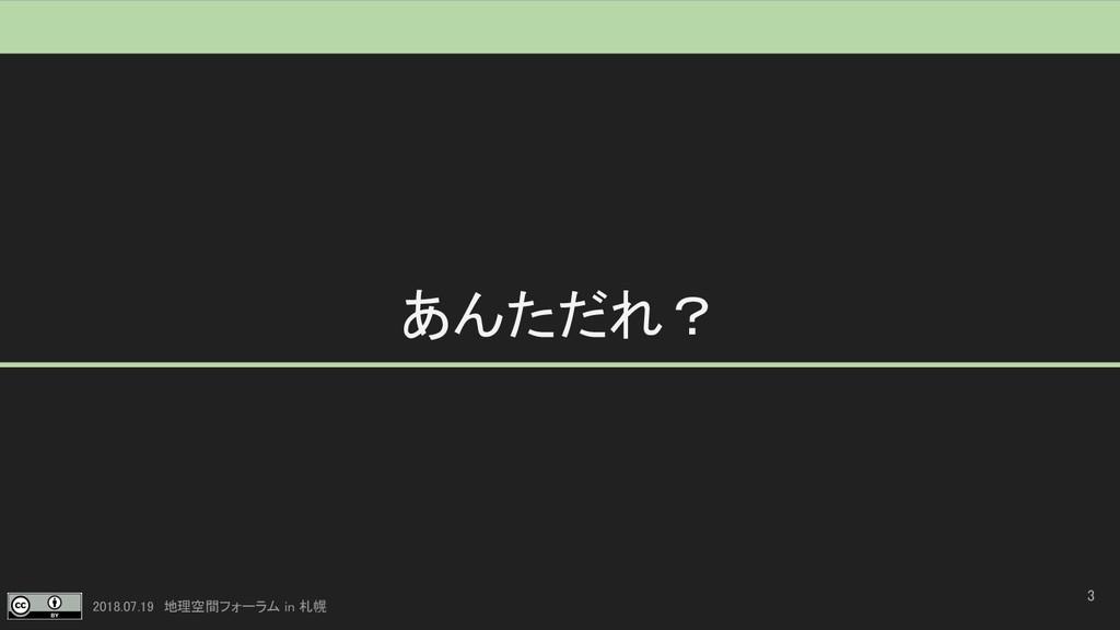 2018.07.19 地理空間フォーラム in 札幌 あんただれ? 3