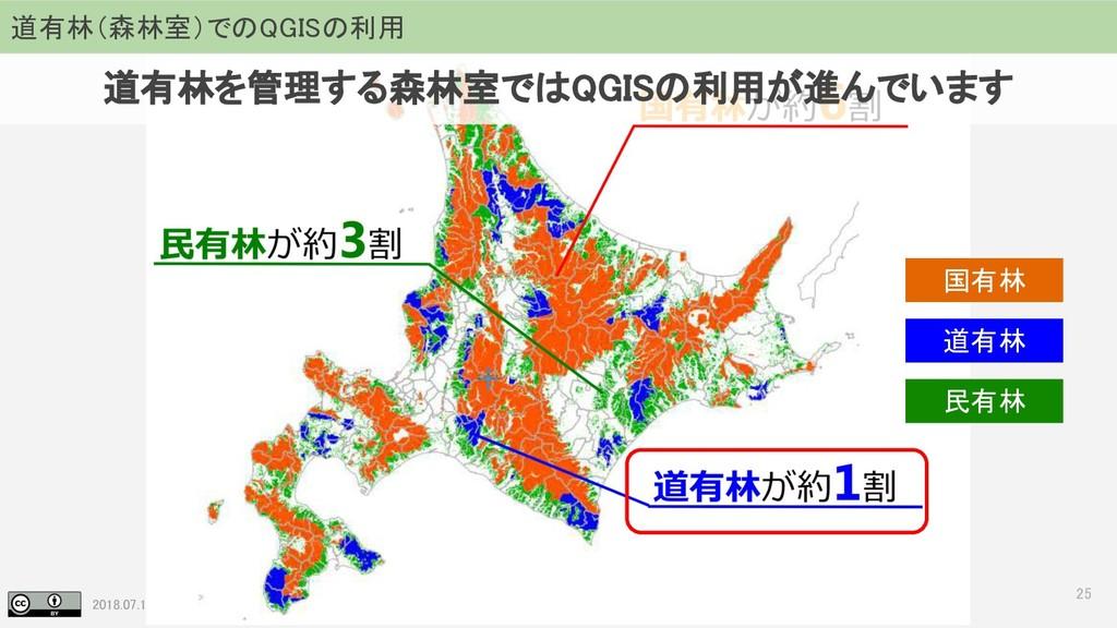2018.07.19 地理空間フォーラム in 札幌 25 道有林(森林室)でのQGISの利用...