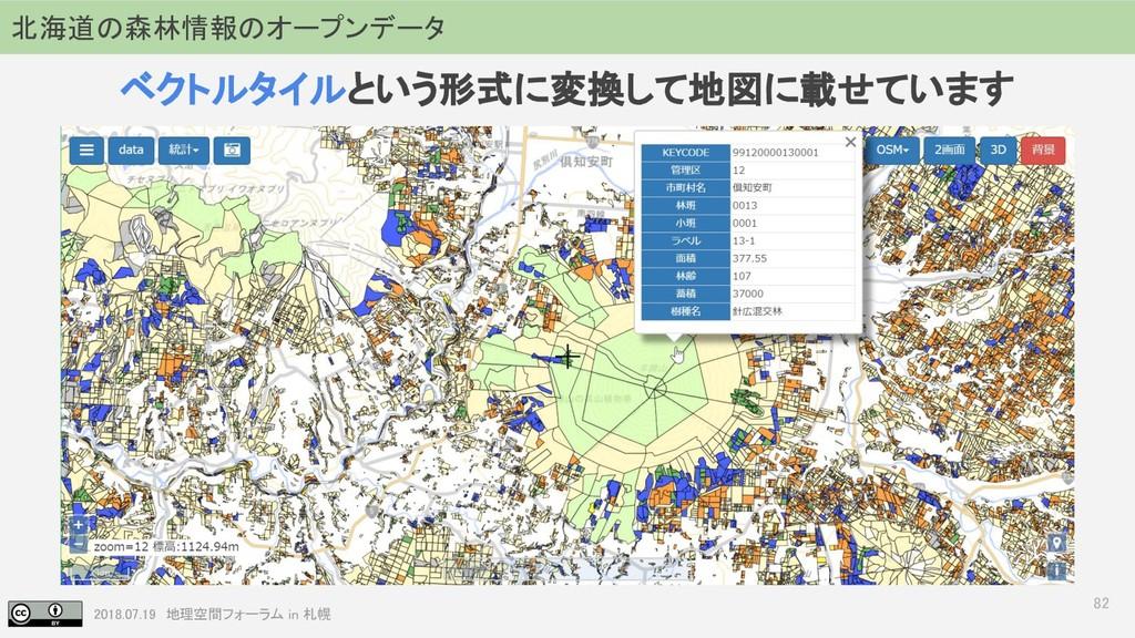 2018.07.19 地理空間フォーラム in 札幌 82 北海道の森林情報のオープンデータ ...