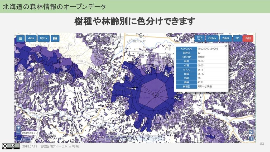 2018.07.19 地理空間フォーラム in 札幌 83 北海道の森林情報のオープンデータ ...