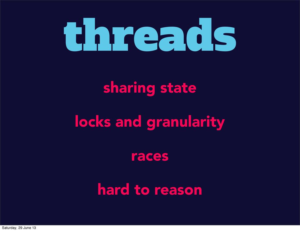 threads sharing state locks and granularity rac...
