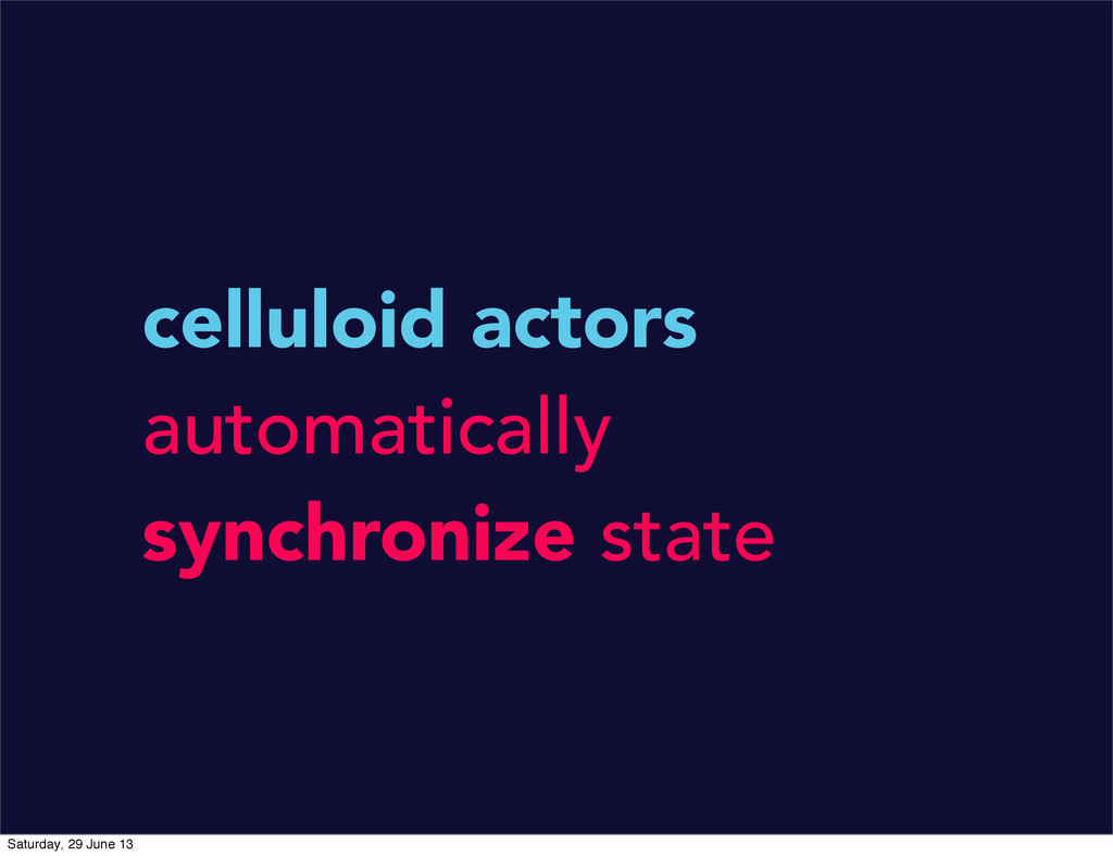celluloid actors automatically synchronize stat...