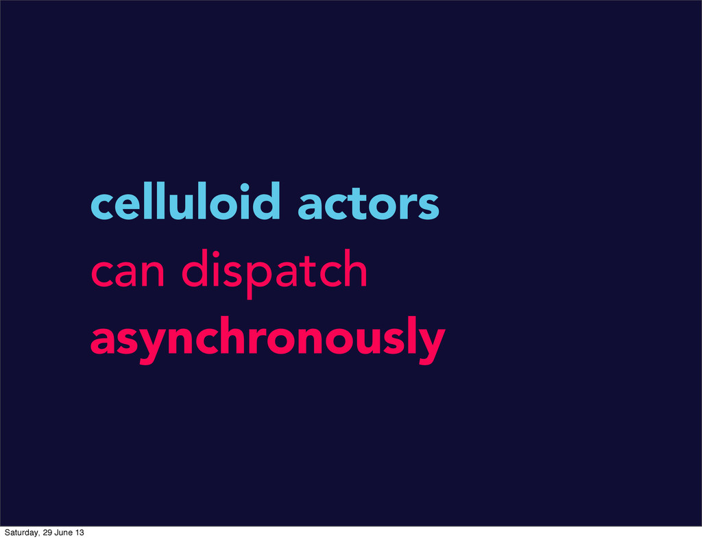 celluloid actors can dispatch asynchronously Sa...