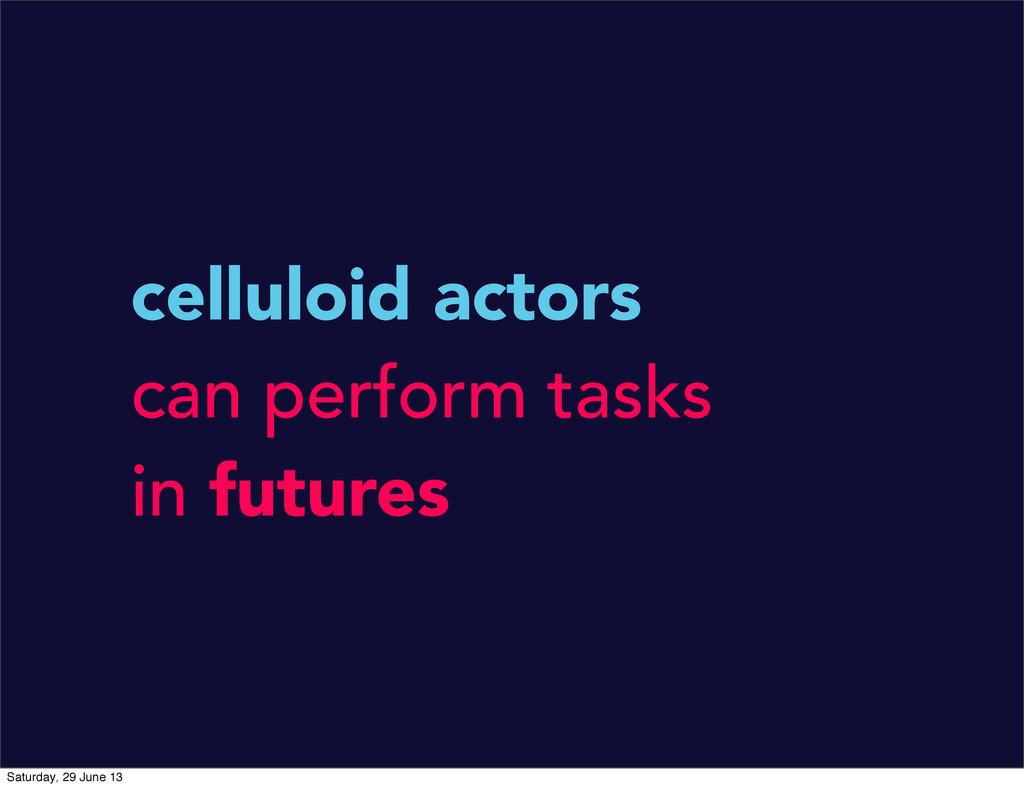 celluloid actors can perform tasks in futures S...