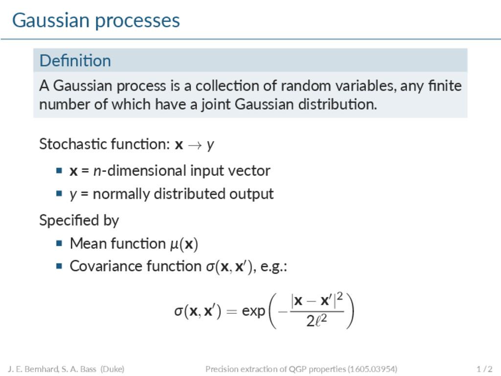 Gaussian processes Defini on A Gaussian process ...