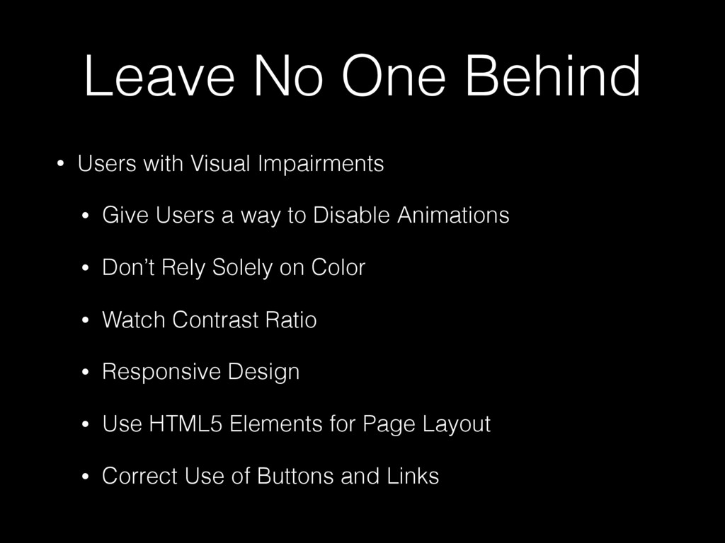 Leave No One Behind • Users with Visual Impairm...