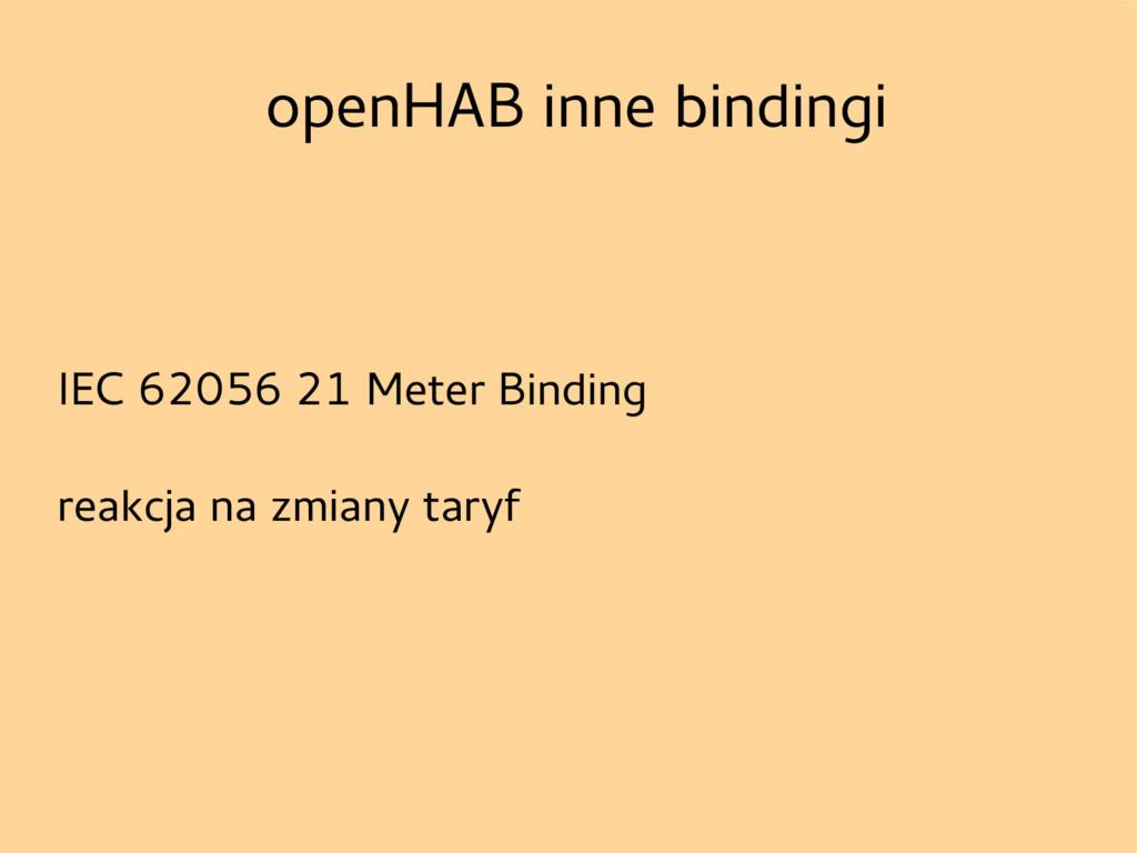 openHAB inne bindingi IEC 62056 21 Meter Bindin...