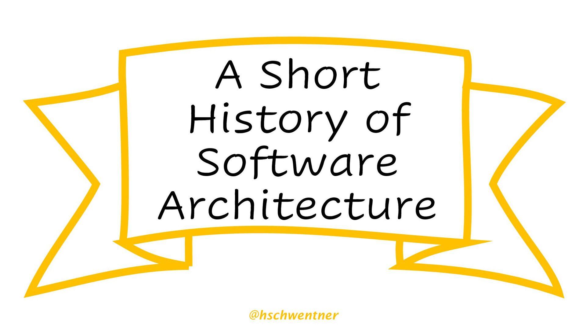 @hschwentner No Architecture Mess