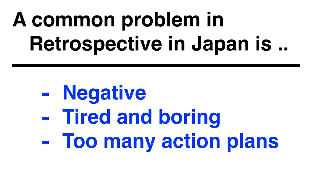 A common problem in 