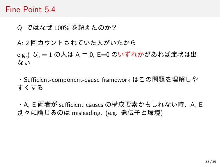 Fine Point 5.4 Q: ではなぜ 100% を超えたのか? A: 2 回カウントさ...