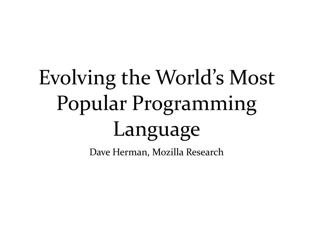 Evolving	