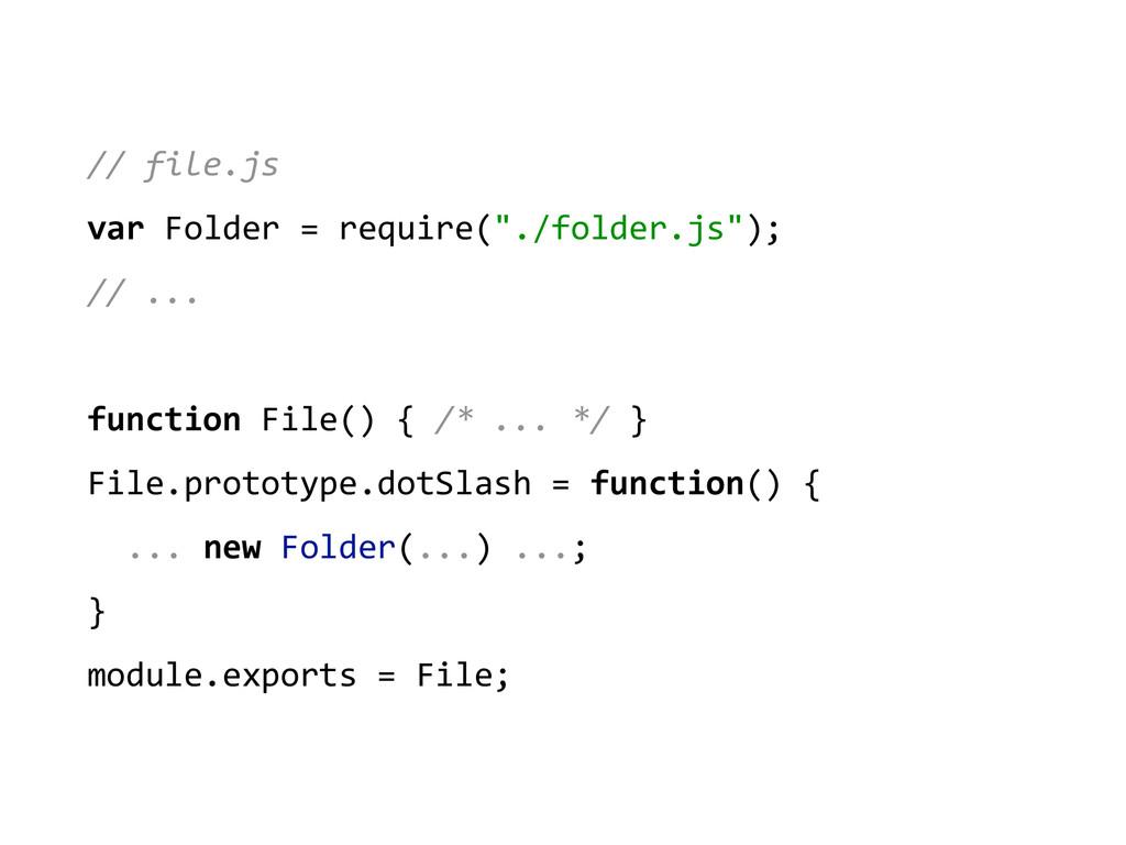 // file.js  var Folder = require...