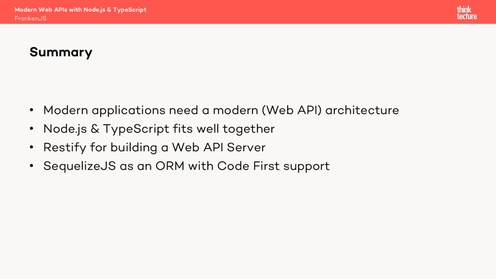 • Modern applications need a modern (Web API) a...