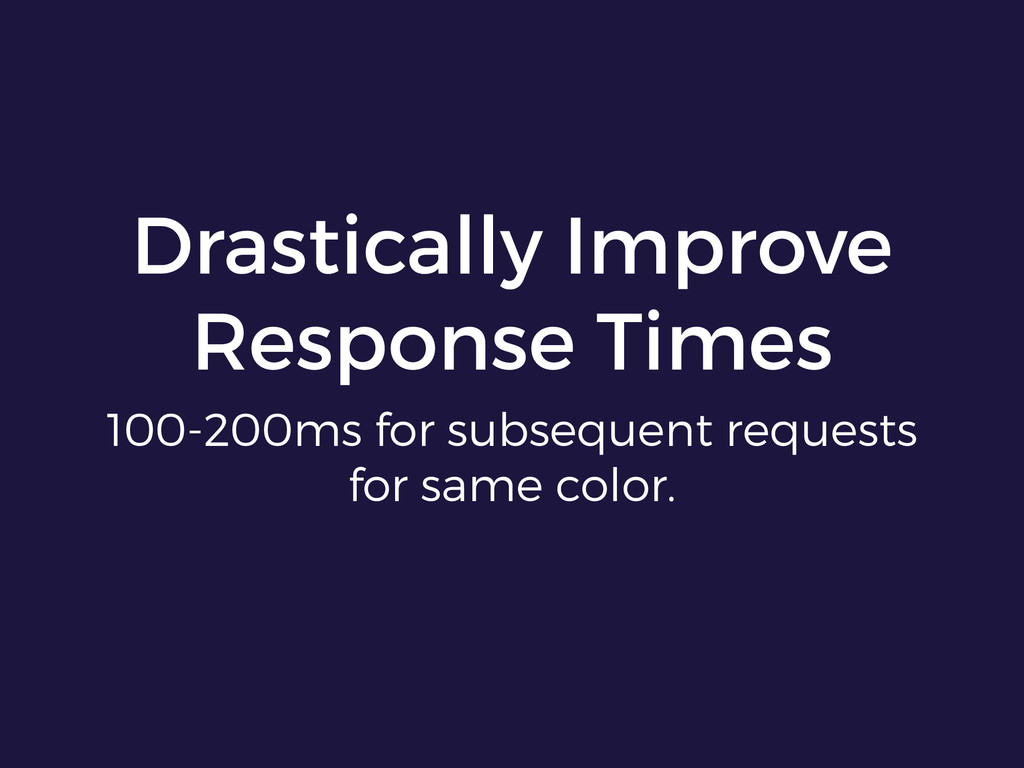 Drastically Improve Response Times 100-200ms fo...