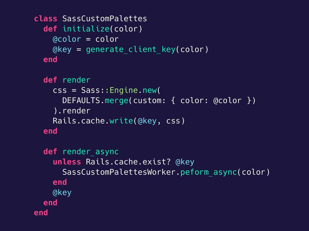 class SassCustomPalettes def initialize(color) ...