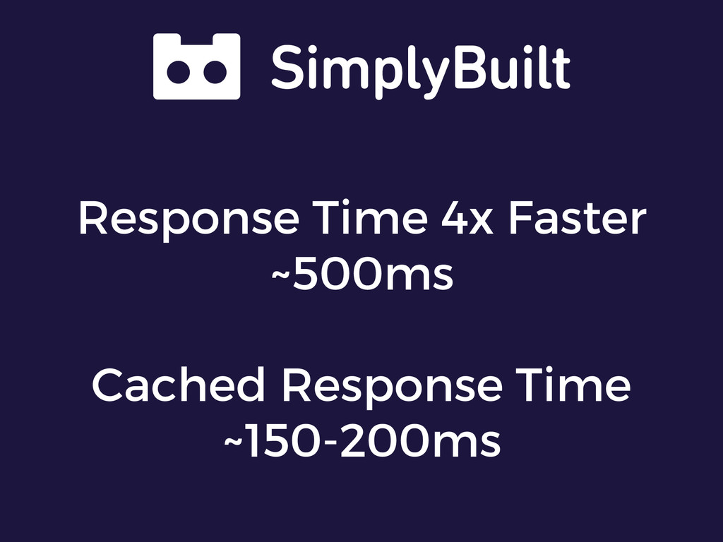 Response Time 4x Faster ~500ms Cached Response ...