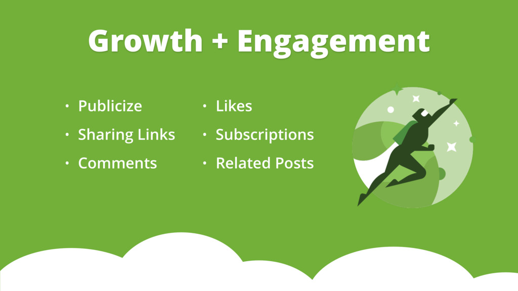 • Publicize • Sharing Links • Comments Growth +...