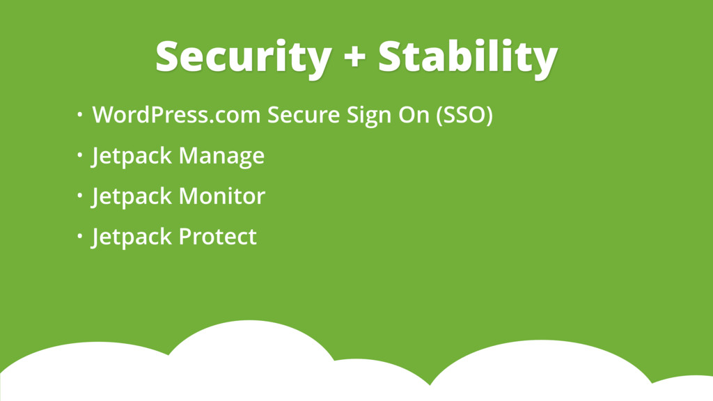• WordPress.com Secure Sign On (SSO) • Jetpack ...
