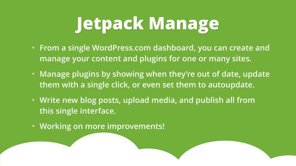 • From a single WordPress.com dashboard, you ca...