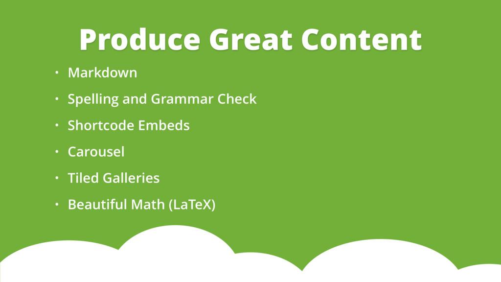 • Markdown • Spelling and Grammar Check • Short...