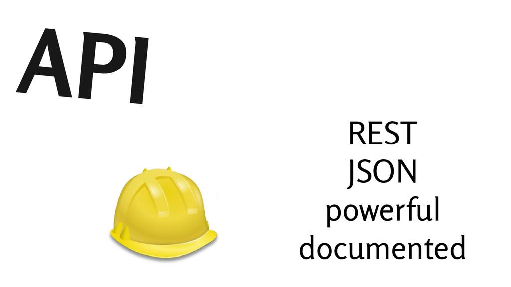 API REST JSON powerful documented